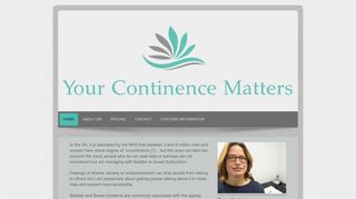 Your Continence Matters - You don't have to put up with it