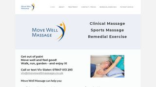 Move Well Massage - clinical and sports massage, remedial exercise and 1:1 yoga at Haddenham Medical Centre
