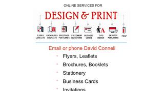 Online design and print services