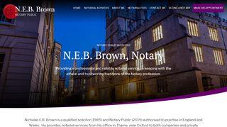 Nicholas E.B. Brown, Notary Public